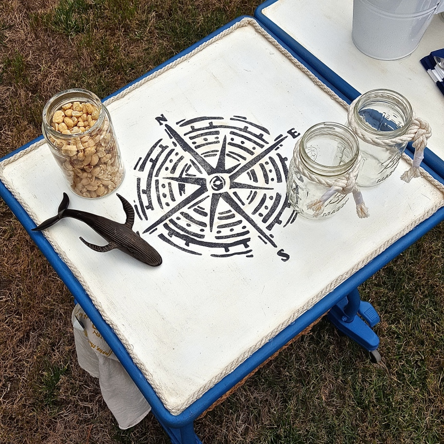 Repurposed Typewriter Table into Beer Cart